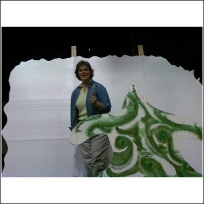 Thelma Sibley creating trees