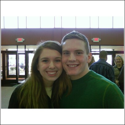 Gregory Jarratt (First Wes in Battle Creek) & Jessica Petkus (St. Mary's in Milford)
