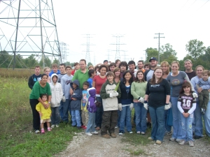 group at corn field